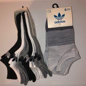 Women's adidas socks 2 packs of 6